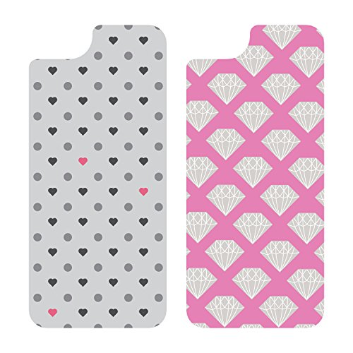 OtterBox My Symmetry Graphic Insert 2PK for iPhone 5/5s - Diamond Stack and Polka Heart (Iphone 5s Case Inserts compare prices)