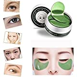 YRD TECH 1Set 60 Pcs Wholesale New Green Tea Powder Gel Collagen Eye Mask Masks Sheet (green)