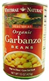 Westbrae Natural Vegetarian Organic Garbanzo Beans, 15-Ounce Cans (Pack of 12) ( Value Bulk Multi-pack)