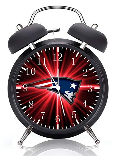 Patriots Alarm Desk Clock 4 Inches Home or Office Decor E98 ()