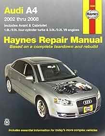audi a4 2002 thru 2008  haynes repair manual  max haynes 9781563928376 amazon com books audi a4 b7 haynes manual download audi a4 b7 service manual