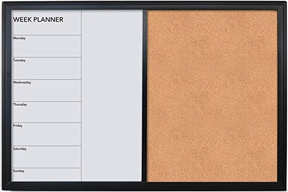 LIANGJUN Pizarra Tablero Mensaje Recordatorios Calendario Semanal Magnético Pizarra Tablero De Corcho Multifuncional Foto Fácil De Borrar, 3 Colores (Color : C, Tamaño : 60x2.1x40cm): Amazon.es: Hogar