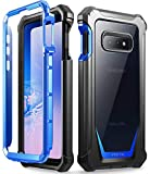 Galaxy S10e Rugged Clear Case, Poetic Full-Body Hybrid Bumper Cover, Support Wireless Charging, Includes Built-in-Screen Protector, Guardian Series, Case for Samsung Galaxy S10e 2019, Blue