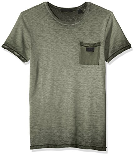 Scotch & Soda Men's Oil-Washed Tee with Cut and Sewn Styling, ...