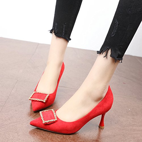 FLYRCX Frauen Temperament Flacher Kopf Temperament Frauen Fashion High Heel Party Schuhe 63c4d0