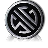 [Single Count] Custom and Unique (3'' Inch) Circular SIG Sauer Firearms Tactical Morale Pro-Arms Political Gear Badge Costume Design (Funny Comedy) Hook Fastener Patch {Silver & Black} {LICENSED}