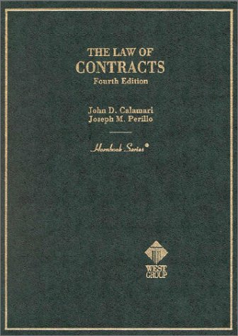 The Law of Contracts (Hornbook Series, 4th Edition)