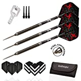 Red Dragon Double Agent: 20g - 90% Tungsten Steel Darts with 2D Dragon Hardcore Flights, Shafts, Wallet & Red Dragon Checkout Card