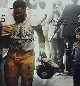 MEAN JOE GREENE / TOMMY OKUN SIGNED COKE FRAMED 16X20 JSA COA STEELERS AUTOGRAPH