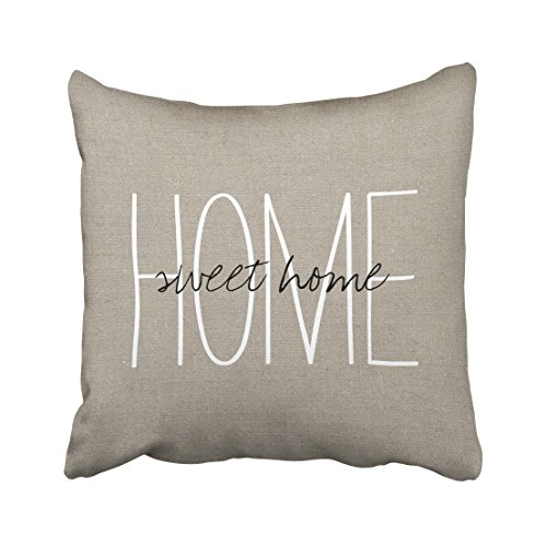 Emvency Square 20x20 Inches Decorative Pillowcases love rustic chic home sweet home lumbar pillow Cotton Polyester Decor Throw Pillow Cover With Hidden Zipper For Bedroom Sofa