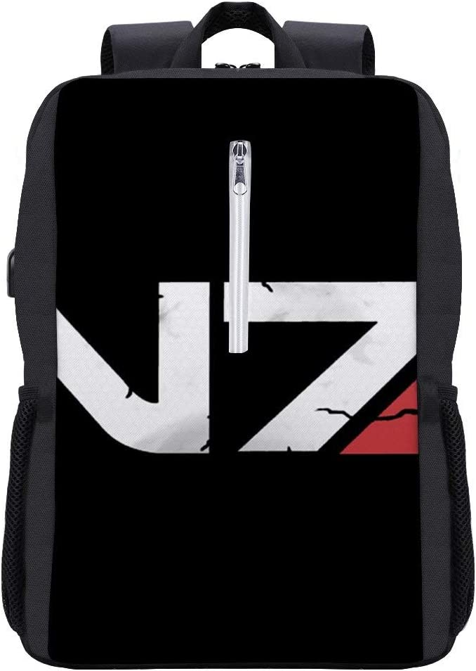 Mass Effect N7 Armour Backpack Daypack Bookbag Laptop School Bag with USB Charging Port