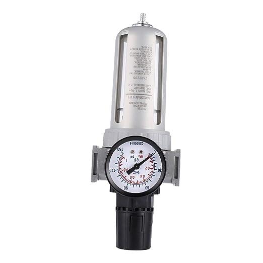 Funnyrunstore Unidad de control de aire Compresor de aire Lubricador de aceite Filtro de trampa de agua de humedad Filtro de montaje del regulador con ...