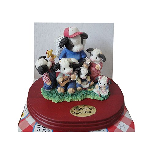 """Mary's Moo Moos """"Watching Over You - Now And For Heifer"""" Limited Edition Figurine With Base No. 261858"""