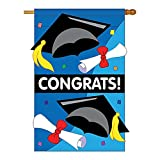 Two Group – Congrats Special Occasion – Everyday School & Education Applique Decorative Vertical House Flag 28″ x 44″