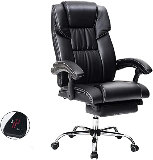 High Back Executive Office Chair Executive Computer Seat Leather 360° Swivel