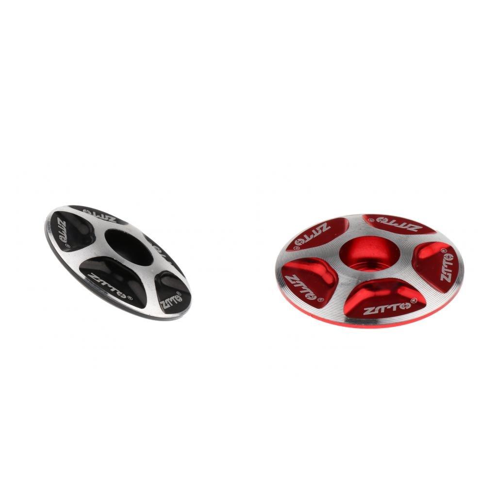 MagiDeal 2pcs Tapa Universal de Juego de Dirección Cubiertas Aleación de Aluminio Práctico Ligero Duradero Bicicleta Bici de Camino MTB