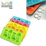 Vibola Novelty Gift Fish Shapes Flexible 8 Ice Cube Tray Mold Rubber Ice Cube Freeze Mold Ice Maker(Random Color)