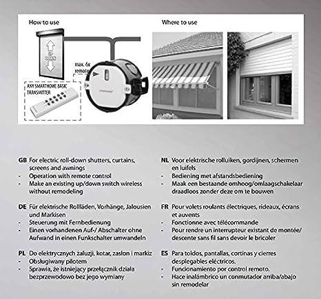 Smartwares SmartHome Funk-Einbauschalter für Rolläden, auf und ab ...