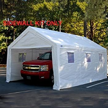 King Canopy Canopy Sidewall Kit with Flaps & Amazon.com: 10 Foot x 20 Foot Universal Enclosed Canopy: Garden ...