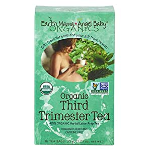 Organic Third Trimester Tea for Pregnancy Comfort and Childbirth Preparation, 16 Teabags/Box
