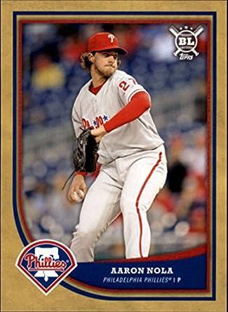 d1f8112aca2 2018 Topps Big League Gold  101 Aaron Nola Phillies MLB Baseball Card NM-MT