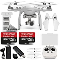 DJI Phantom 3 Advanced Quadcopter with 2.7K Camera and 3-Axis Gimbal. Ultra Saving Kit Includes: 2 Pieces of 32GB High Speed Memory Card + Card Reader + Deluxe Cleaning Kit