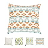 Hahadidi 100% Polyester EmbroideryDecorative Throw Pillow Cover,Decorative Throw Pillows for Sofa Home Outdoor,18x18 Inches Cushion Cover Orange Green