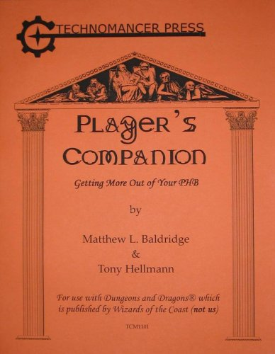 Download Player's Companion: Getting More Out of Your PHB (TCM1101) ePub fb2 book