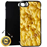 mac and cheese ipod 5 case - Custom iPhone 7 Case (Mac n cheese) Edge-to-Edge Plastic Black Cover with Shock and Scratch Protection | Lightweight, Ultra-Slim | Includes Stylus Pen by Innosub