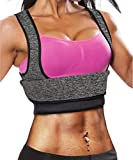 Ursexyly Fat Burner Sweating Vest Shirt Neoprene Slimming Sauna Suit Tank Top for Women (Grey Sweating Vest, M, US 8-10)