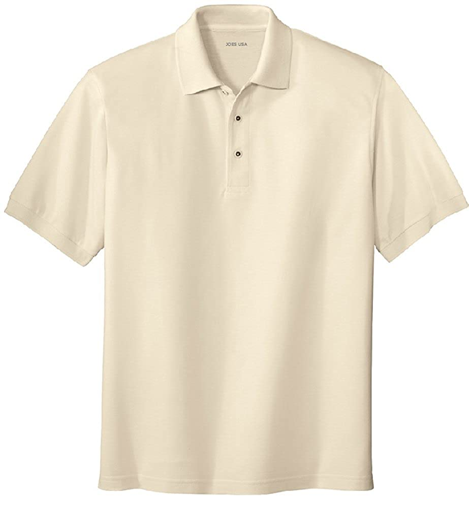 Joes USA XS-10XL Mens Classic Polo Shirts in 36 Colors and Sizes