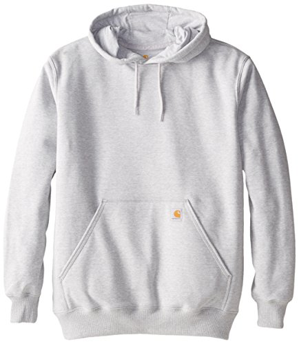 Carhartt Men's Big & Tall Rain Defender Paxton Heavyweight Hooded Sweatshirt,Heather Gray,Large - 25% Polyester Sweatshirt