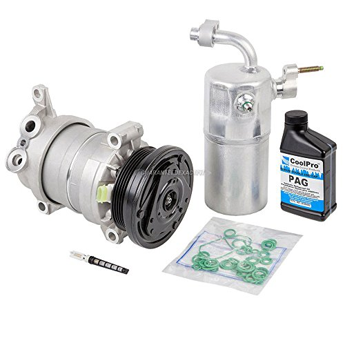 New AC Compressor & Clutch With Complete A/C Repair Kit For Chevy (Hd A/c Compressor Clutch)