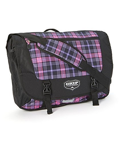 (Grip by High Sierra Payback Messenger Bag - Pink Plaid/Black)