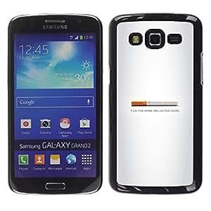 Caucho caso de Shell duro de la cubierta de accesorios de protección BY RAYDREAMMM - Samsung Galaxy Grand 2 - Butt fumadores - Gracioso