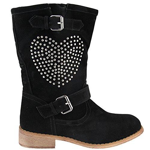 Unbekannt - botas estilo motero Mujer Negro - negro