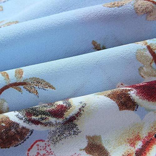 Printemps Et Loisir Mode Shoulder Plage Fleur Carmen Haut Large Modle Manches Femme Blau Fille Blouse breal lgant Jeune Shirts Chemisiers Long Off zOfnwEqzx