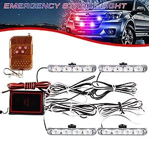 4x4 LED luz de advertencia estroboscópica DC12V intermitente de emergencia lámpara de baliza remoto inalámbrico advertencia estroboscópica luz externa de emergencia para camión caravana Camper 20