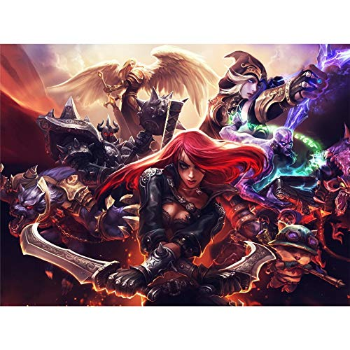 League of Legends 3D Poster Wall Art Decor Print | 11.8 x 15.7 | Lenticular Posters & Pictures | Memorabilia Gifts for Guys & Girls Bedroom | LOL Fan Art | Katrina, Teemo, Kayle, Warwick & Ashe Photo