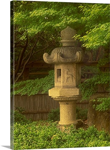 Japanese Stone Lantern, Japanese Botanical Garden, Fort Worth, Texas Gallery-Wrapped Canvas