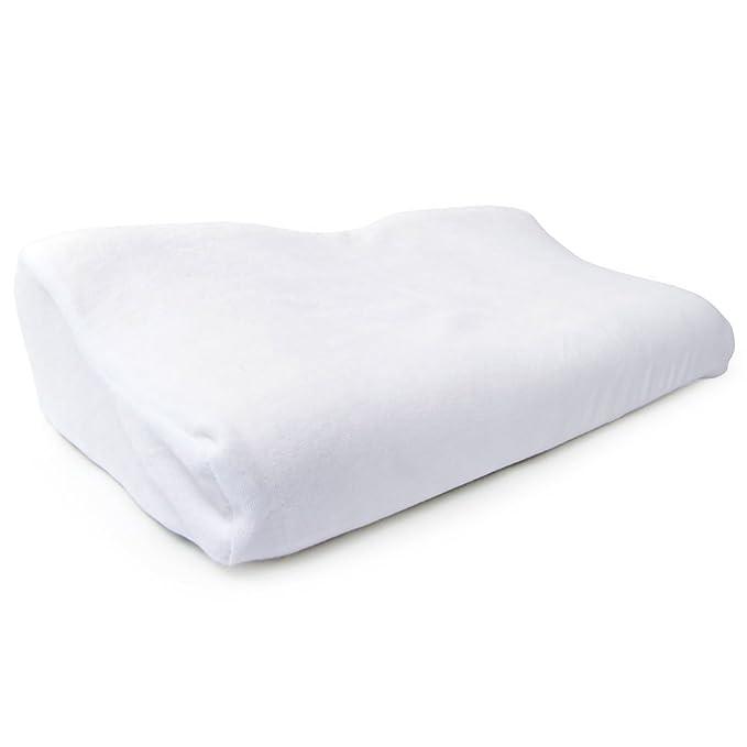 66Fit Physio Pillow - Almohada de espuma de poliuretano con funda extra (34 x 54 x 12/6 cm), color blanco: Amazon.es: Deportes y aire libre