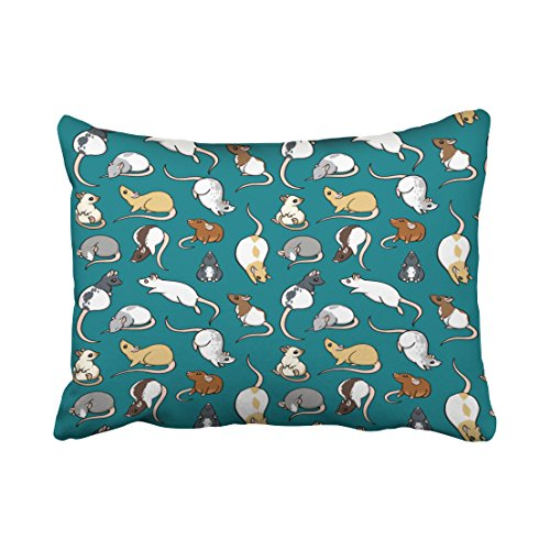 Accrocn Halloween Rat Pillow Covers Cushion Cover Case 20X26 Inches Pillowcases One - Sunglasses Aspen Store