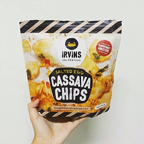 (IRVINS Salted Egg Cassava Chips Crisps 105g)
