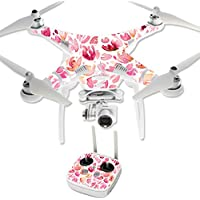 MightySkins Protective Vinyl Skin Decal for DJI Phantom 3 Professional Quadcopter Drone wrap cover sticker skins Pink Petals