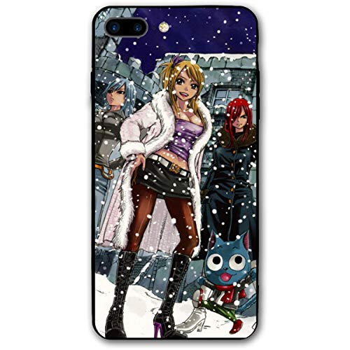 (Fnh iPhone 7/8 Plus Erza Scarlet Gajeel Redfox Gray Fullbuster Happy Fairy Tail Cases )
