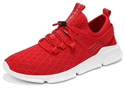 7-PORTANT Herren Sportschuhe Sneaker Laufschuhe 39-48 3#rot
