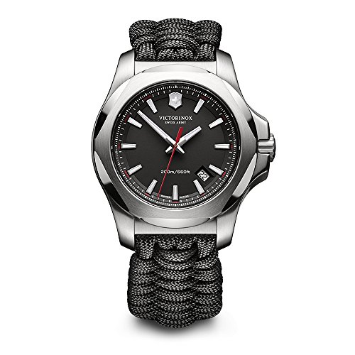 Victorinox Swiss Army Men's 241726.1 I.N.O.X. Watch with Black Dial and Black Paracord Strap