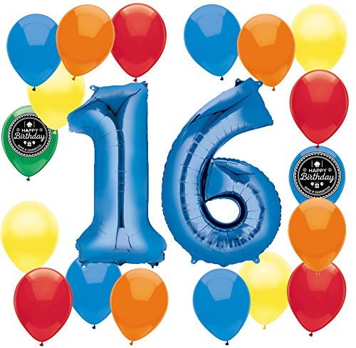Choose Your Own Age 1 50th Happy Birthday Party Supplies Balloon Decoration Bundle