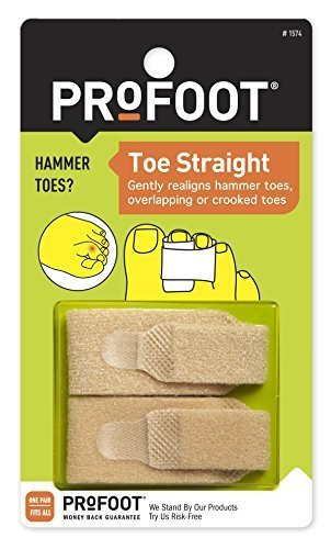 PROFOOT Toe Straight Hammertoe Wrap, 1 Pair by Profoot