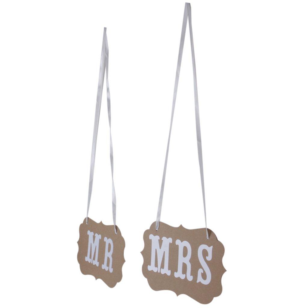 MR MRS Hochzeit Braut West Verzierung Bunting Garland Banner Beige